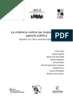 La Violencia Contra Las Mujeres en La Ag