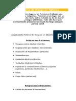 Factores de Riesgo en Talleres