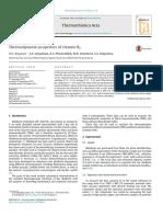 Thermodynamic Properties of Vitamin b2
