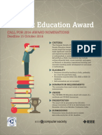 CSI-IEEE Joint Education Award
