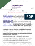 Caros Amigos - Breves Estudos VENEZUELA..