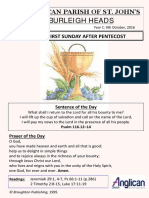 website proforma - 9th october 2016 - 21st sunday after pentecost