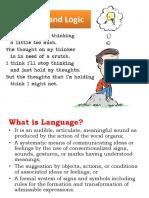 Logic and Language