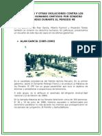 Asesinatos y Otras Violaciones Contra Los Derechos Humanos Omitidos Por Sendero Luminoso Durante El Periodo 98