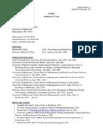 Vohs Psychology CV 02 December 2014