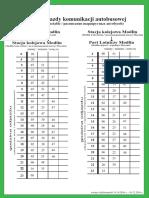 Rozkład Jazdy Modlin PKP-Modlin Port Lotniczy Ważny w Dniach 16 X-10 XII