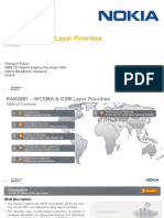 WCDMA and GSM Layer Priorities