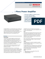 LBB 1938 20 Plena Power Amplifier Data Sheet EnUS
