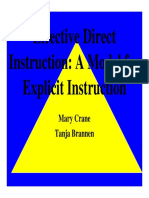 Effective Direct Instruction