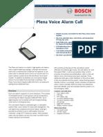 LBB 1956 00 Plena Voice Alarm Call Station Data Sheet EnUS