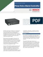 LBB 1990 00 Plena Voice Alarm Controler Data Sheet EnUS