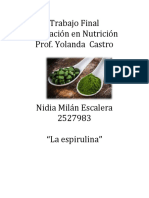 La Espirulina- Nidia Milan