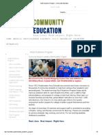 Adult Academic Program - Community Education