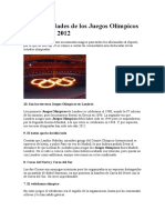 10 Curiosidades de Los Juegos Olímpicos de Londres 2012