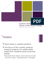 food waste presentation