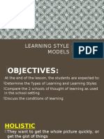 4. Learning Style Models