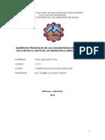 Elementos Principales de Los Concentrados Minerales Que Influyen en La Venta de Los Mismos en El Mercado Peruano