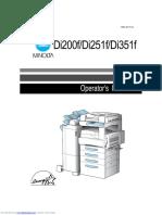 Minolta Di351f User Manual