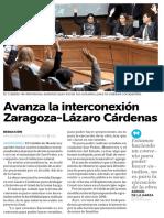 05-10-16 Avanza la interconexión Zaragoza-Lázaro Cárdenas