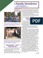 2016 Niehaus Family Newsletter