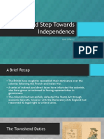 a bold step towards independence