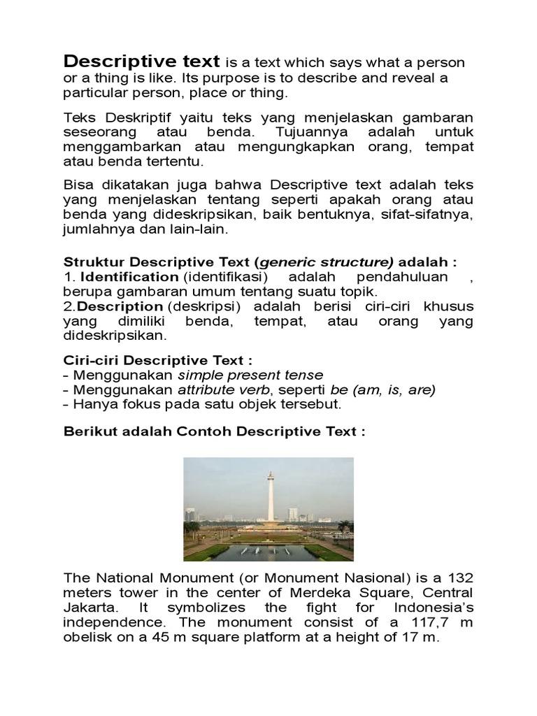 Bahan Ajar Descriptive Text