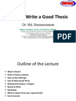 Lecture 6 How to Write a Good Thesis