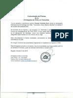 Comunicado de Prensa Chile