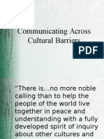 Cross Cultural Barriers in Communication