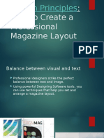Magazine Design Principles