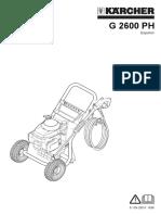 Manual G2600PH 11944050 Karcher Honda