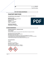 Phantom Insecticide MSDS