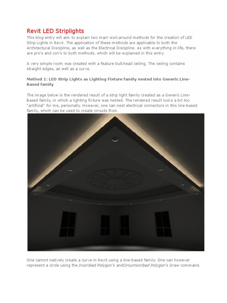 Revit LED Striplights | Rendering (Computer Graphics) (197 views)