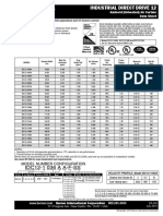Berner Industrial Direct Drive 12 Ambient Air Curtain Data Sheet