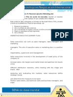 Evidencia 13 Resumen Ejecutivo Marketing Plan