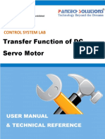User Manual for Transfer Function of DC Servo Motor
