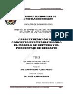 Tesis Caracterizacion Concreto Permeable Modulo Ruptura Desgaste