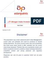 JPM Conference on Asian Paints