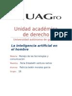 La Inteligencia Artificial en El Hombre. Derecho.