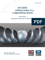 UN 2030 Rebuilding Order in a Fragmenting World - Chair's Report - Independent Commission on Multilateralism - August 2016