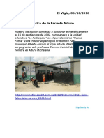 Reseña Histórica de La Escuela Arturo Michelena