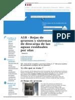 A18 - Rejas de Gruesos y Sistemas de Descarga de Las Aguas r