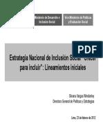 Peru Estrategia National de Inclusion Social