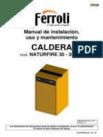 Manual Instrucciones NATURFIRE 30-35-39