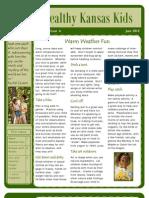 Healthy Kansas Kids Newsletter - June 2010