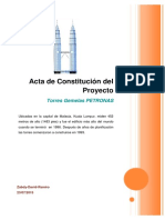Acta de Constitucion Del Proyecto - Torres Petronas