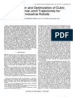 Formulation and Optimization of Cubic Polynomial Joint Trajectories for Industrial Robots