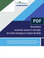 Dezvoltarea Resurselor Umane În Educație