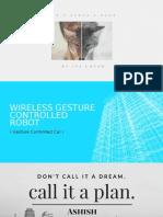 Wireless gesture robot