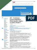 A5 - Letrinas. Generalidades. Principales Tipos. ¿Cómo Elegi